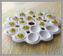 A serving dish made for eggs